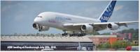 tmb a380 lands at farnborough