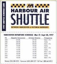 tmb 1997 harbour air timetable 1387
