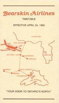 1983 bearskin timetable 1390