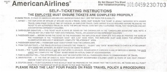 tmb american airlines pass travel
