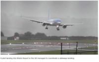 tmb pilot landing cross wind