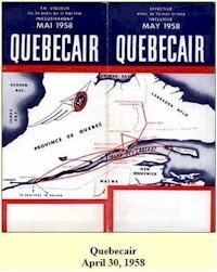 tmb quebecair timetable 1958