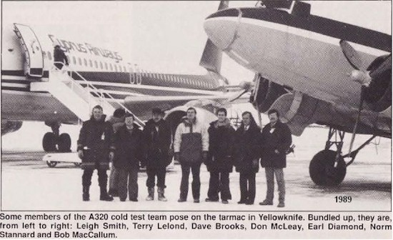 tmb 550 a320 cold test team