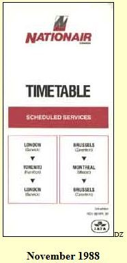 nationair timetable