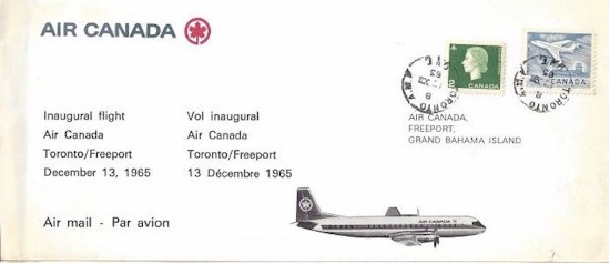 tmb 550 first day covers yyz freeport